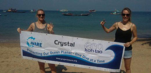 Beach clean up Koh Tao