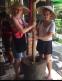 Grinding coffee in Bali