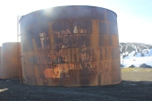 Whale oil storage tank for